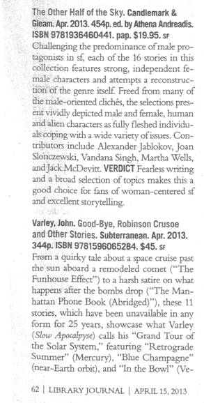 Library Journal review scan
